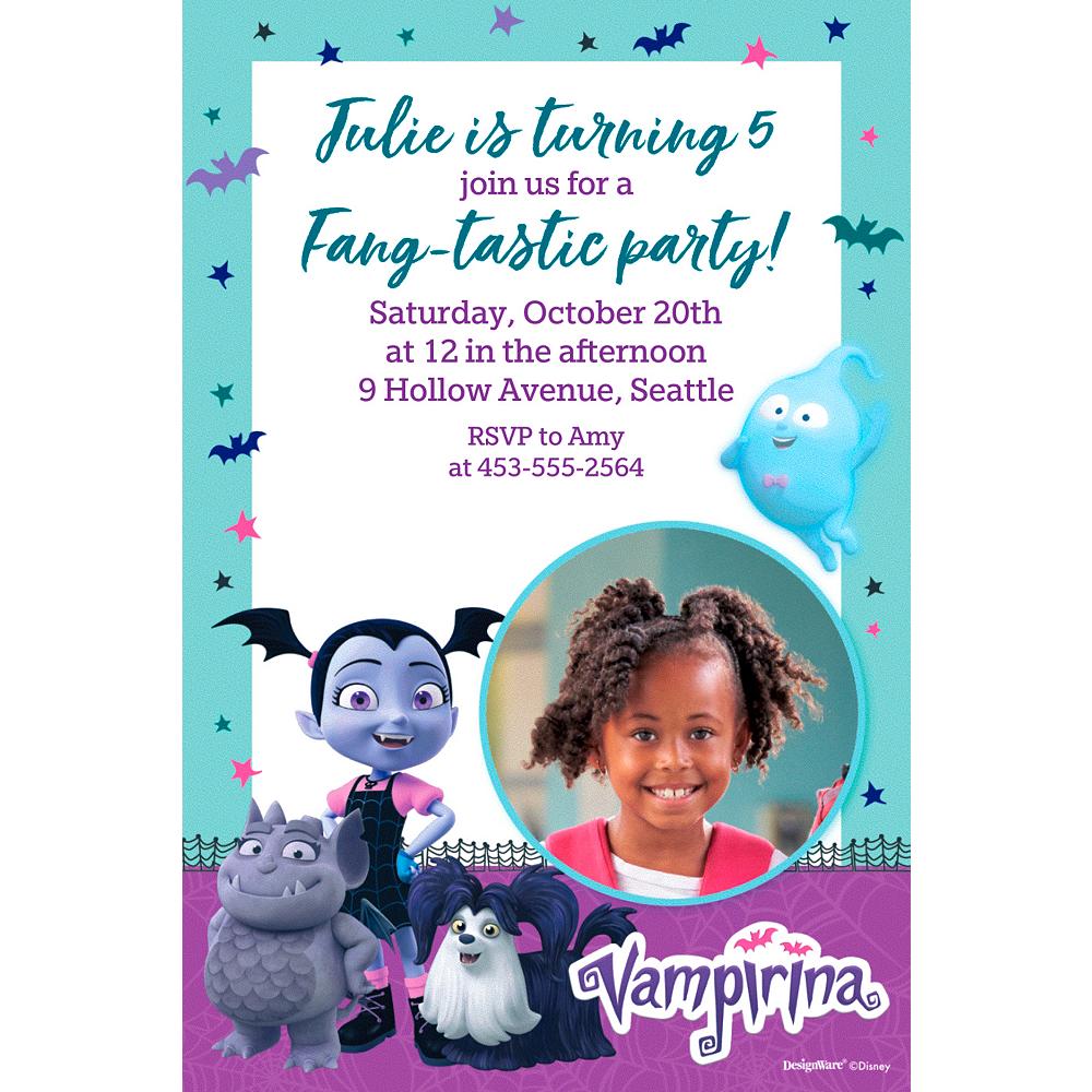 Custom Vampirina Photo Invitations Image #1