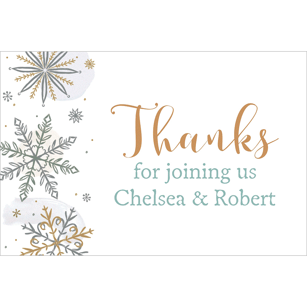 Custom Shining Snow Thank You Notes Image #1