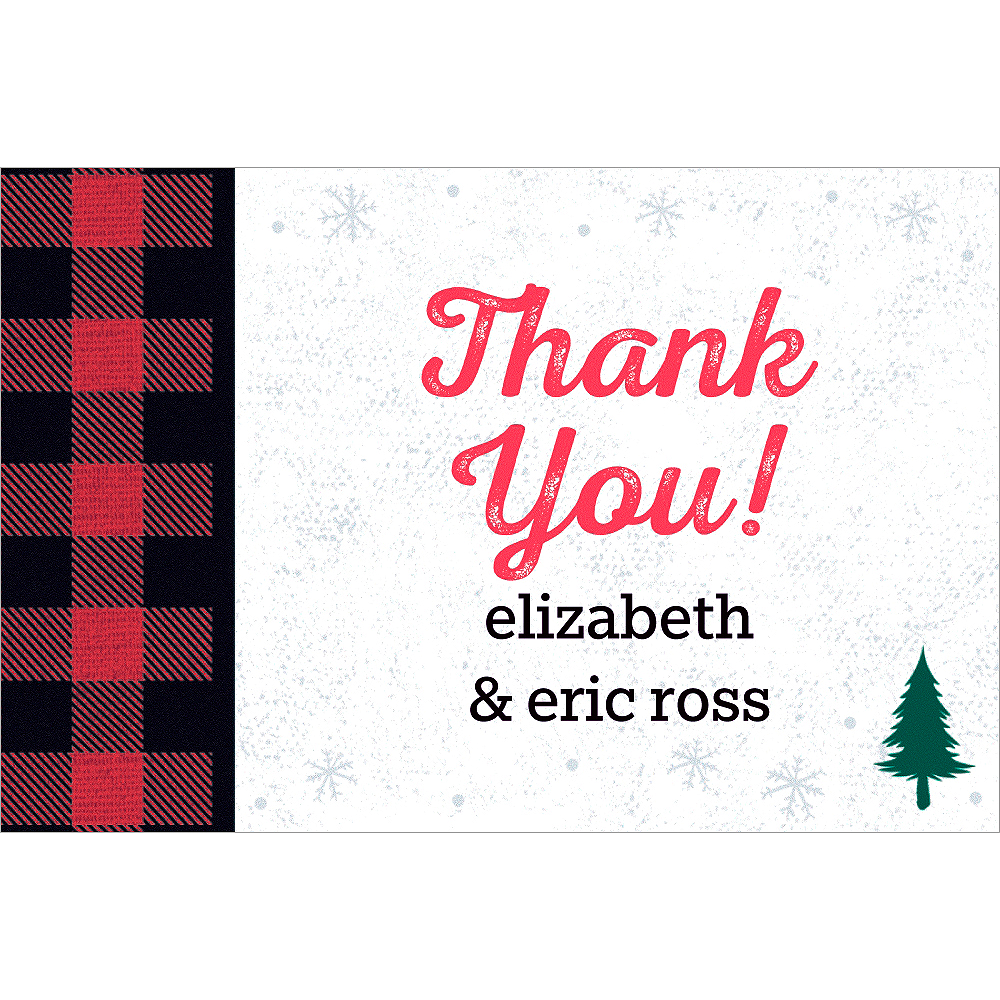 Custom Cozy Rustic Thank You Notes Image #1