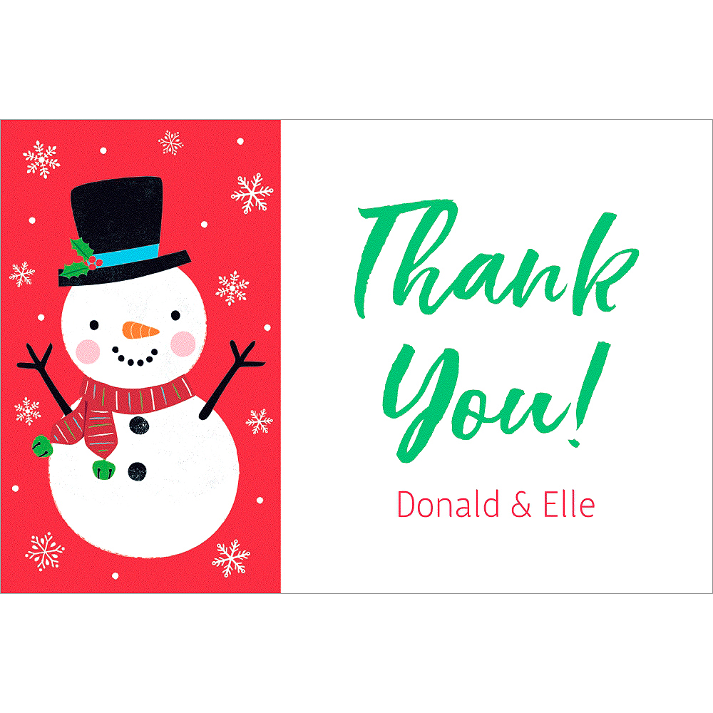 Custom Snowy Friends Thank You Notes Image #1