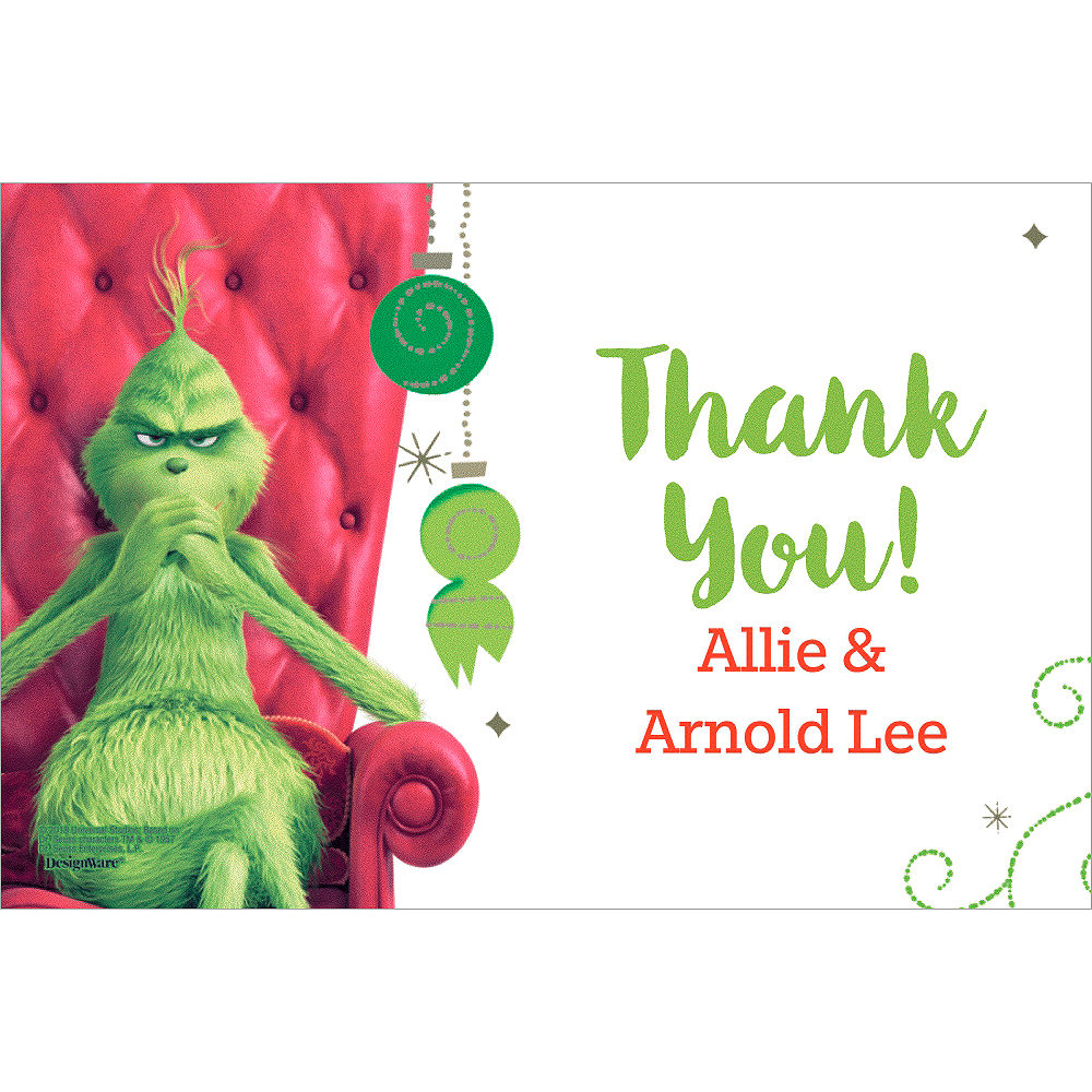 Custom The Grinch Thank You Notes Image #1