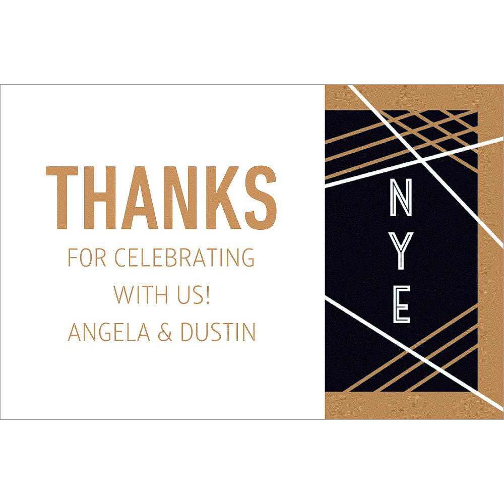 Custom Art Deco Cheers Thank You Notes Image #1