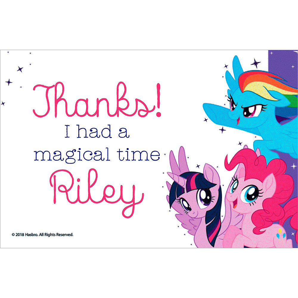 Custom My Little Pony Thank You Notes | Party City