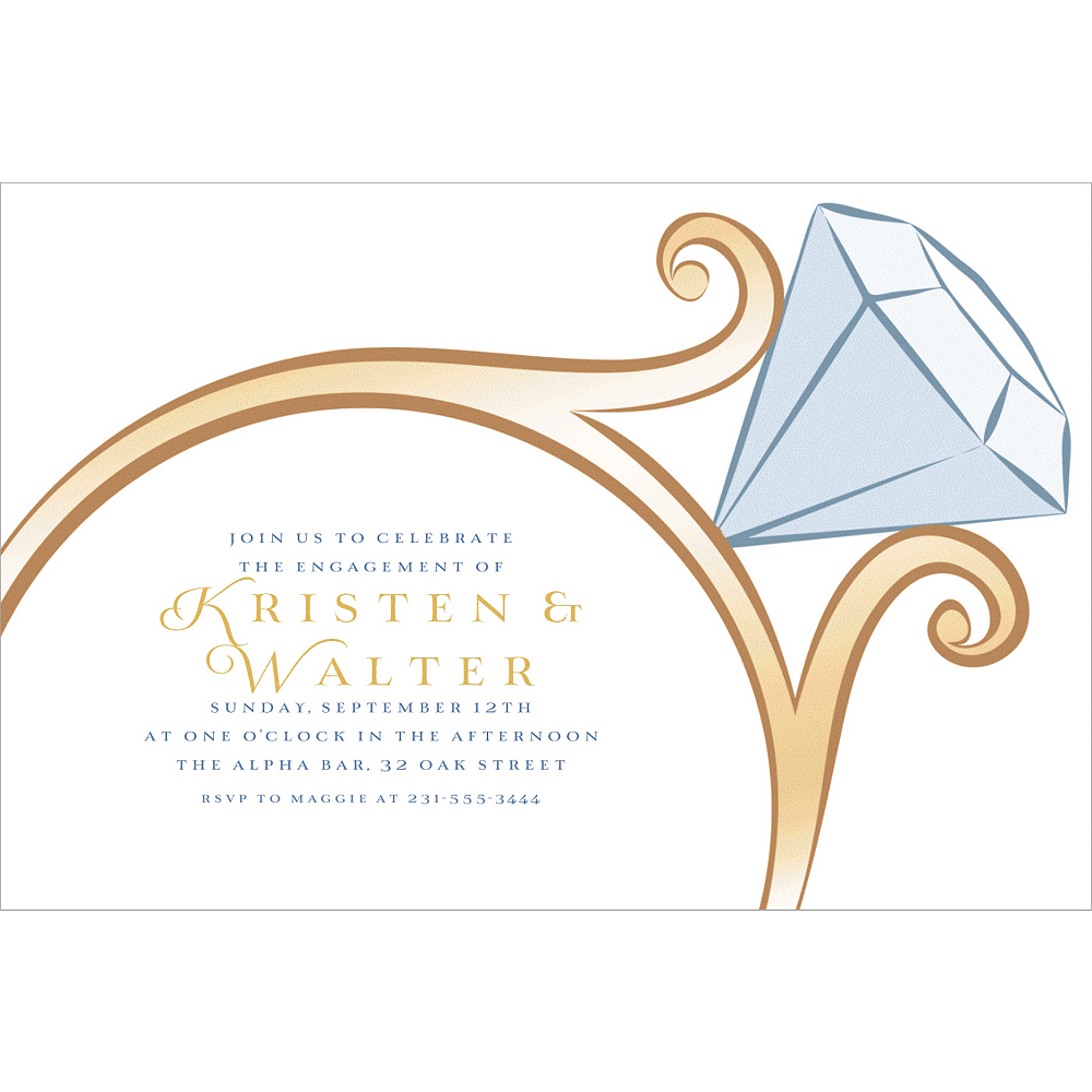 Custom Big Diamond Ring Invitations Image #1