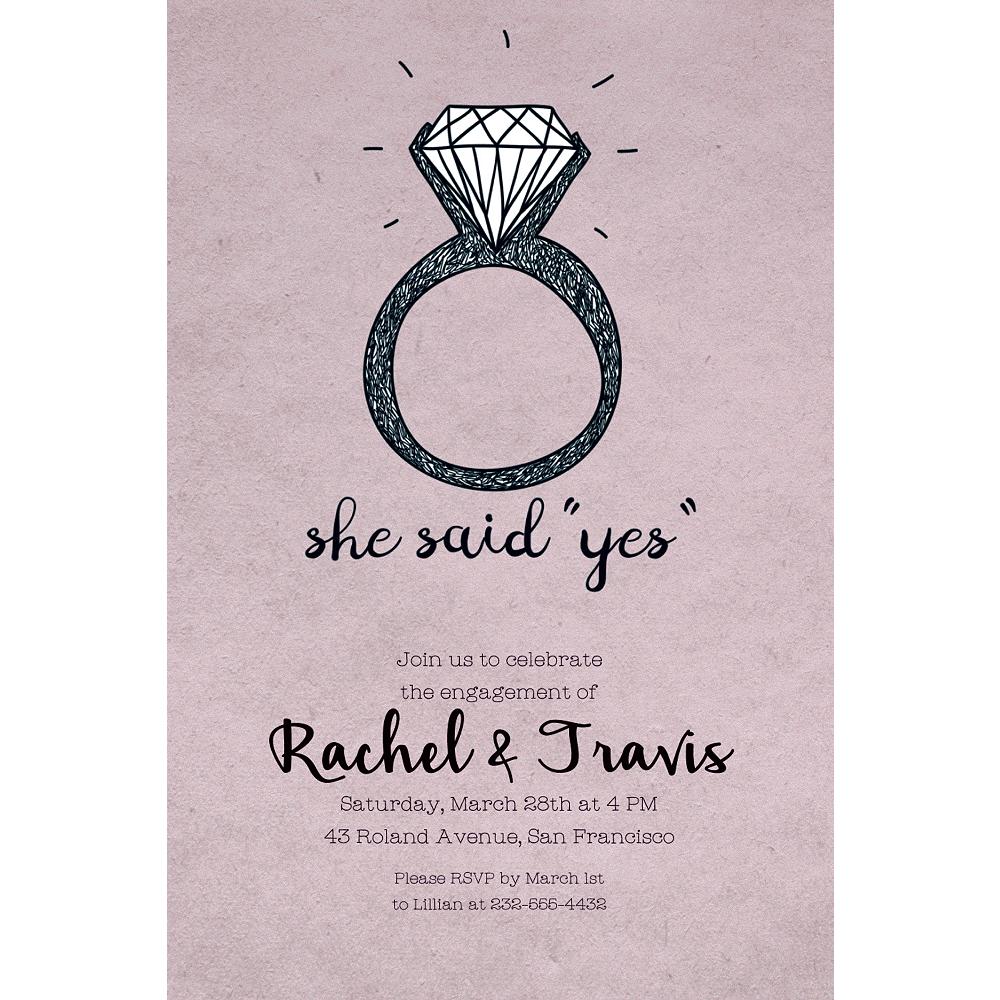 Custom She Said Yes Invitations Image #1