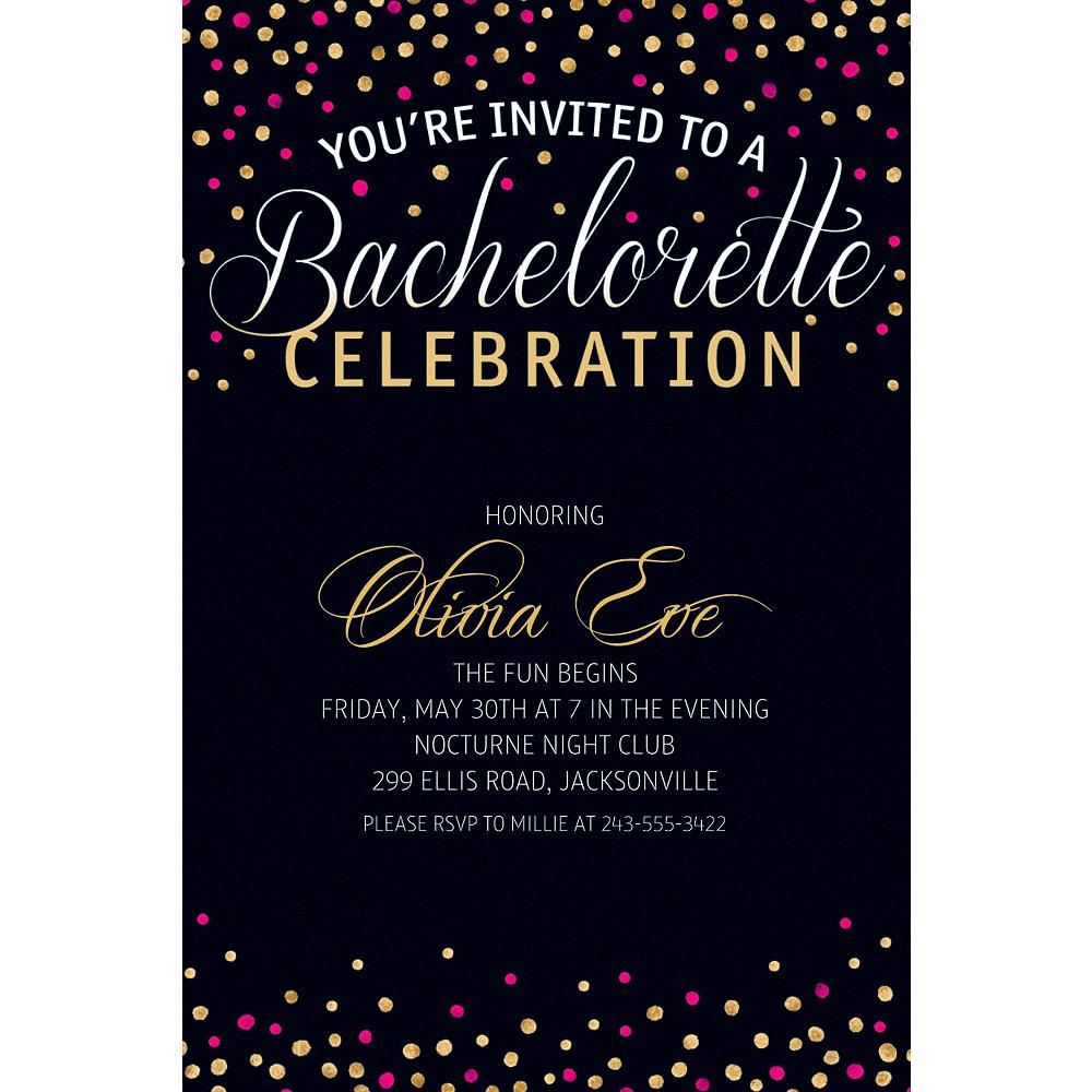 Custom Bachelorette Glitter Invitations Image #1