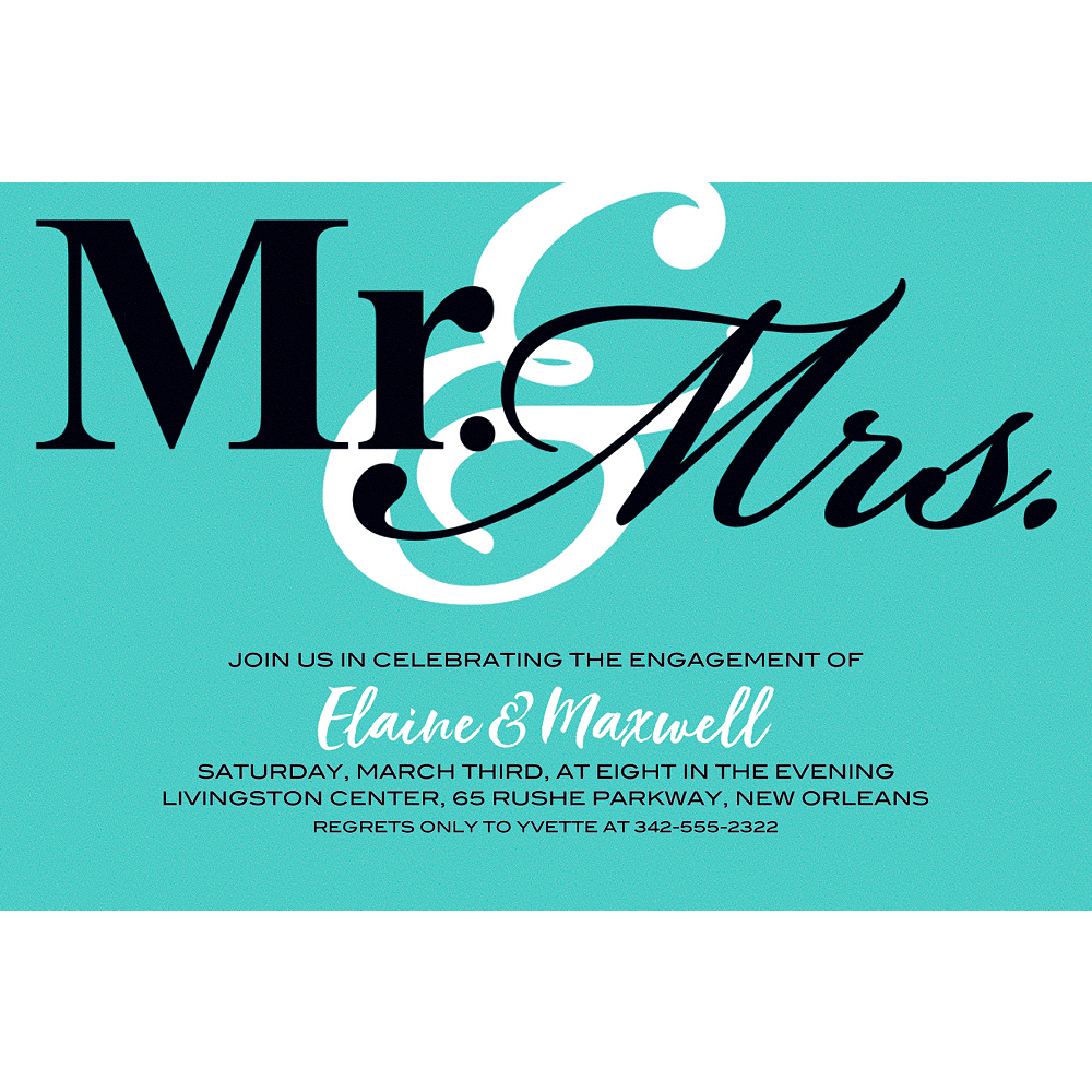 Nav Item for Custom Mint Mr. & Mrs. Invitations Image #1