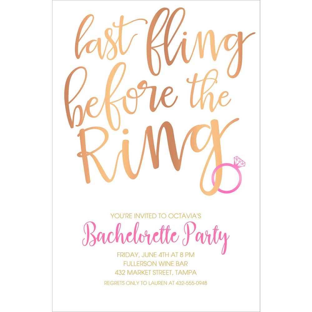 Custom Last Fling Before the Ring Invitations Image #1