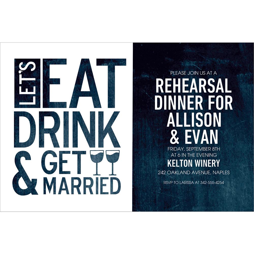 Custom Eat Drink & Get Married Invitations Image #1
