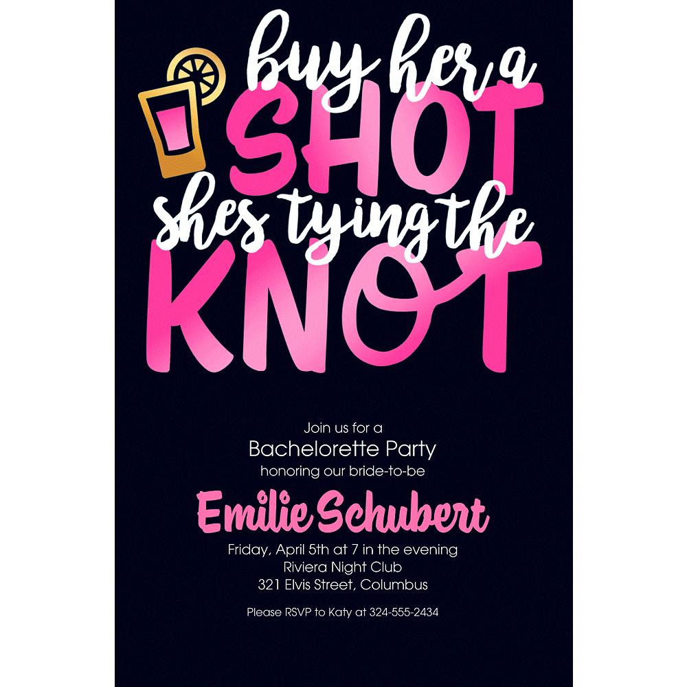 Custom Buy Her a Shot Invitations Image #1