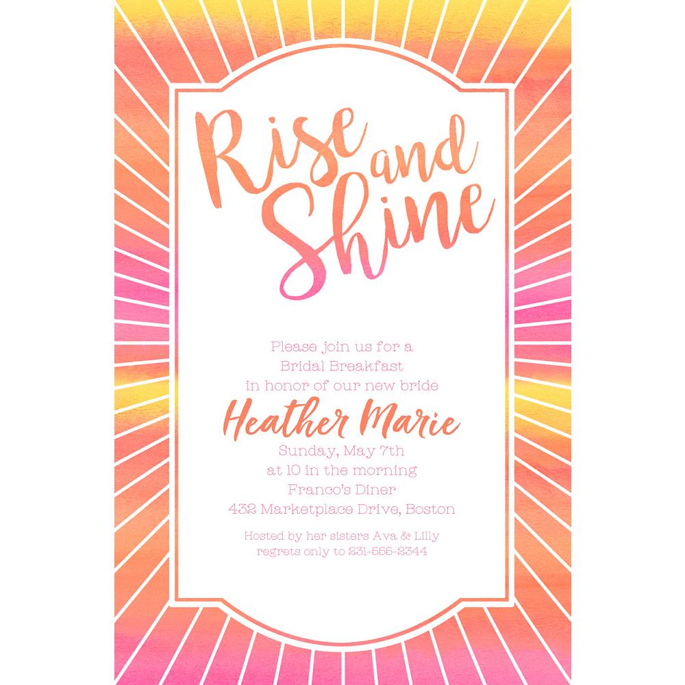 Custom Rise & Shine Invitations Image #1