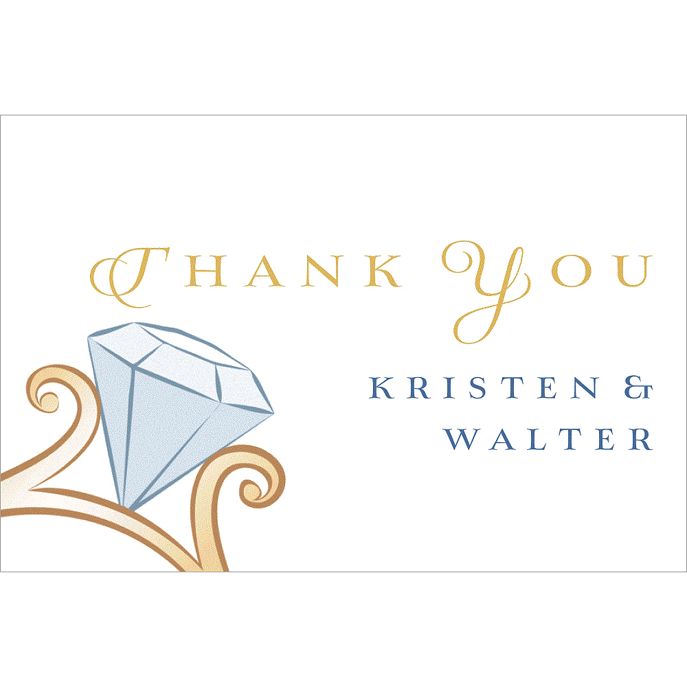 Nav Item for Custom Big Diamond Ring Thank You Notes Image #1