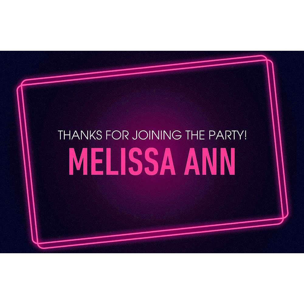 Custom Ladies' Night Neon Sign Thank You Notes Image #1