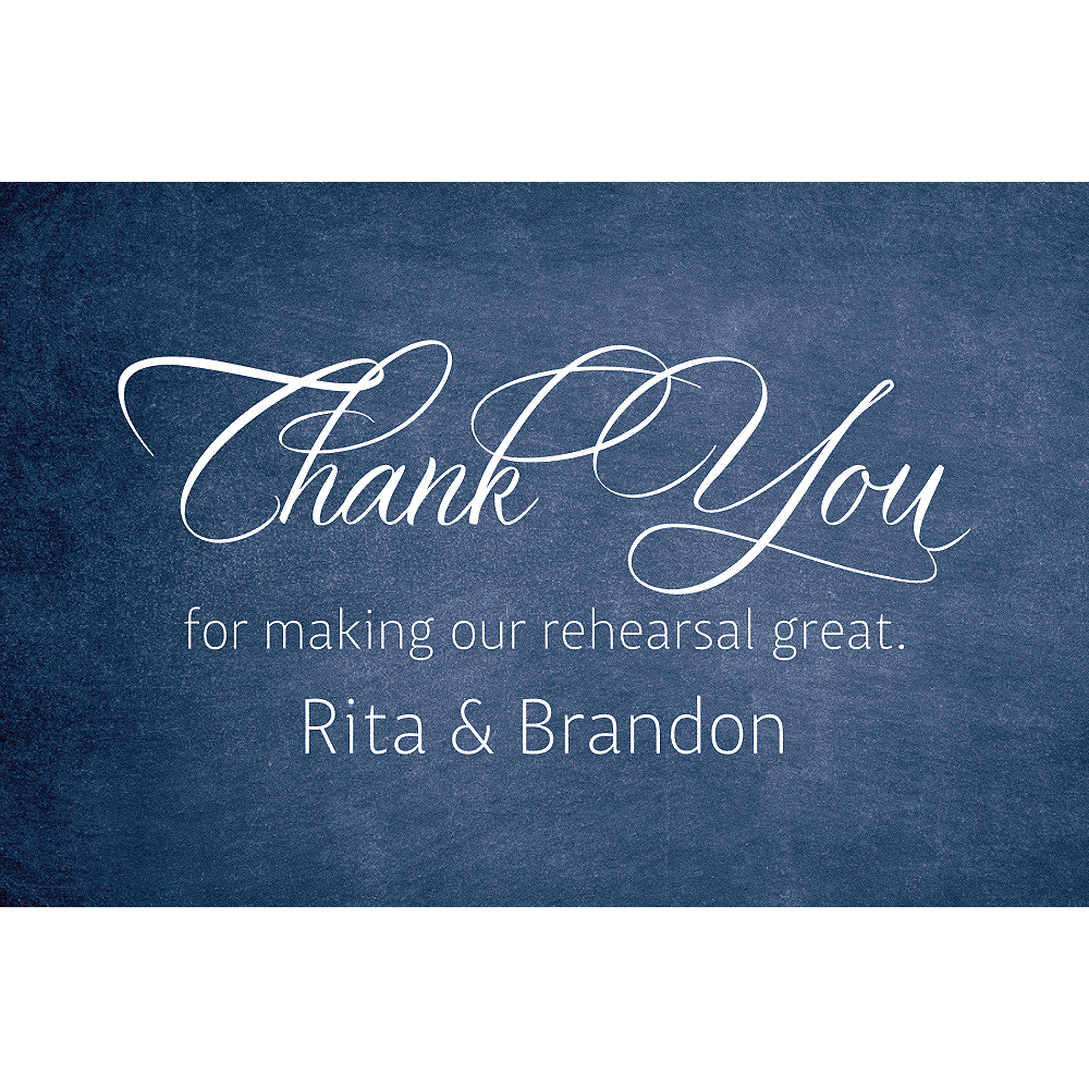 Custom Rehearsal Dinner Script Thank You Notes  Image #1