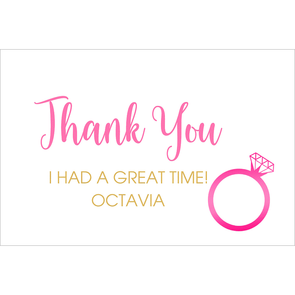 Custom Last Fling Before the Ring Thank You Notes Image #1