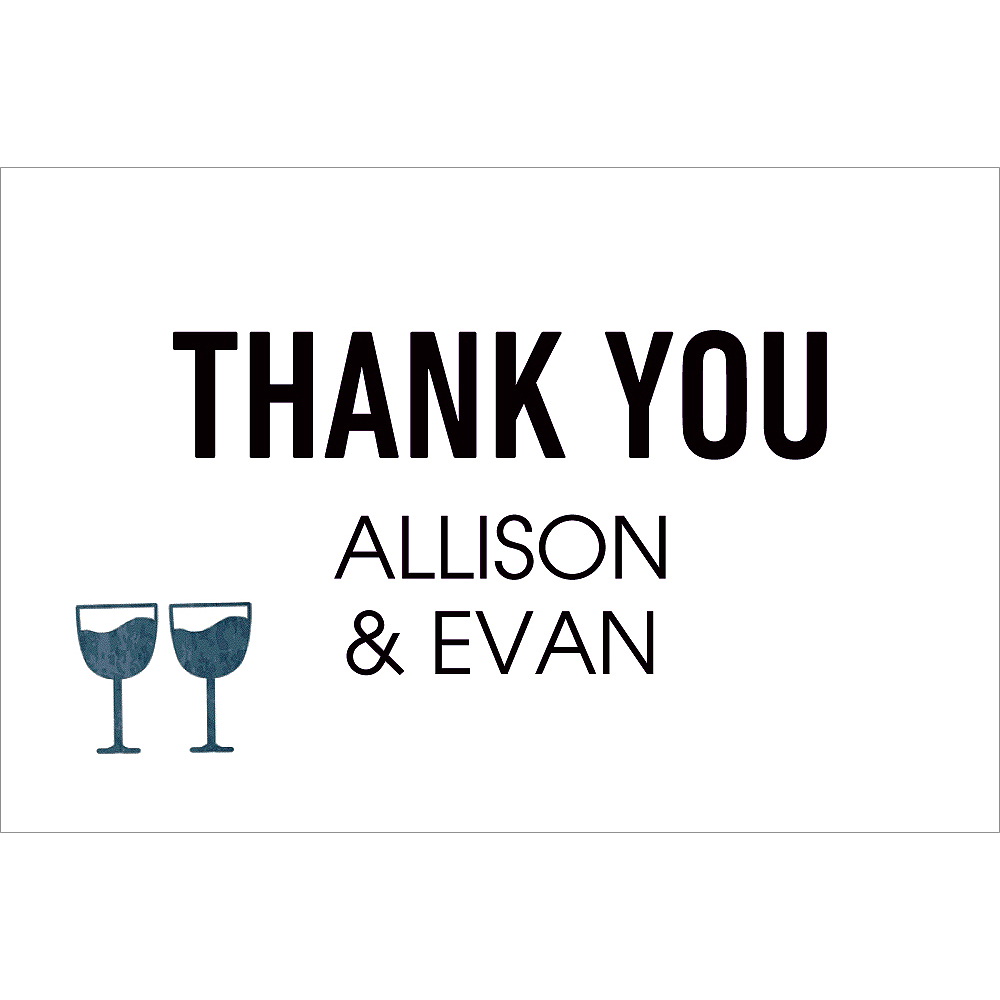 Custom Eat Drink & Get Married Thank You Notes Image #1