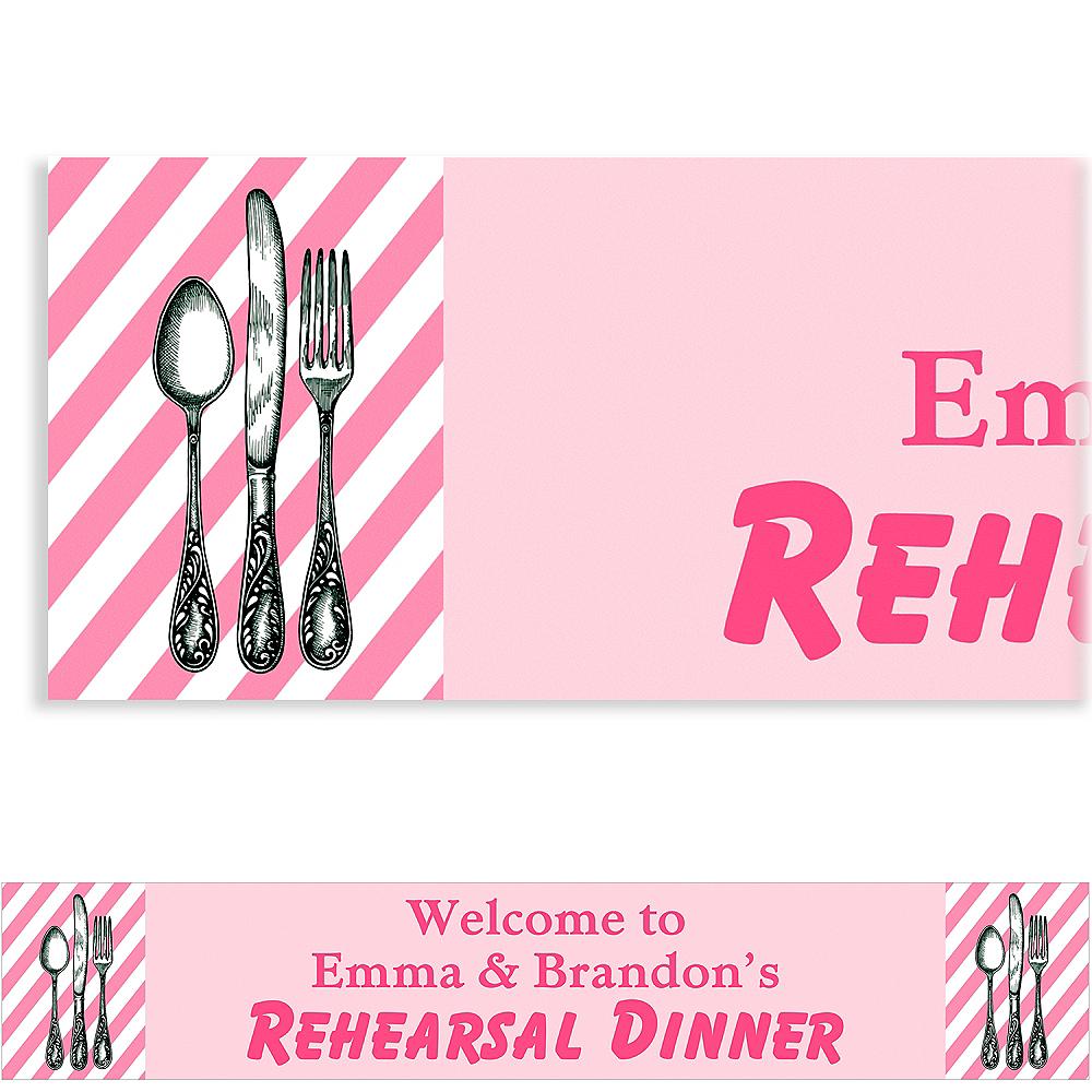 Custom Pink Rehearsal Silverware Banner Image #1