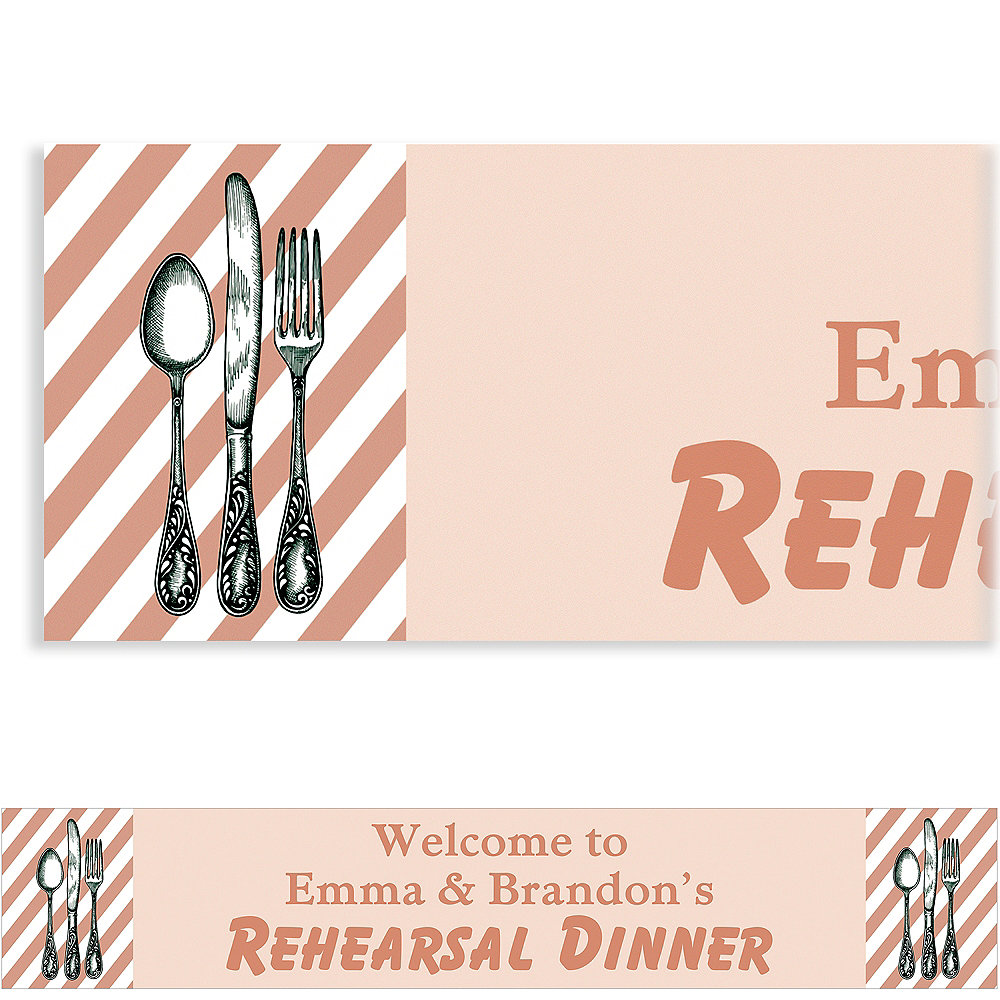 Nav Item for Custom Taupe Rehearsal Silverware Banner Image #1