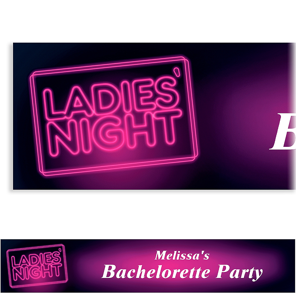 Custom Ladies' Night Neon Sign Banner Image #1