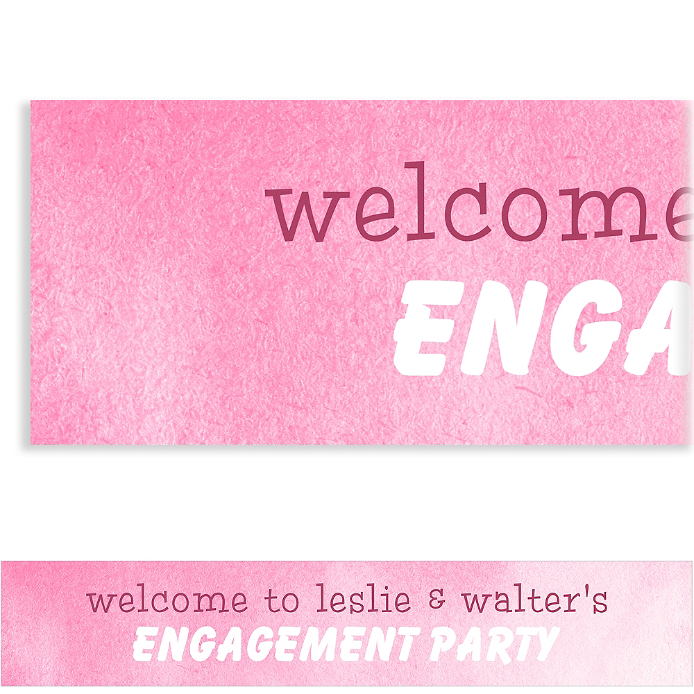 Custom Pink We Are Engaged Banner Image #1