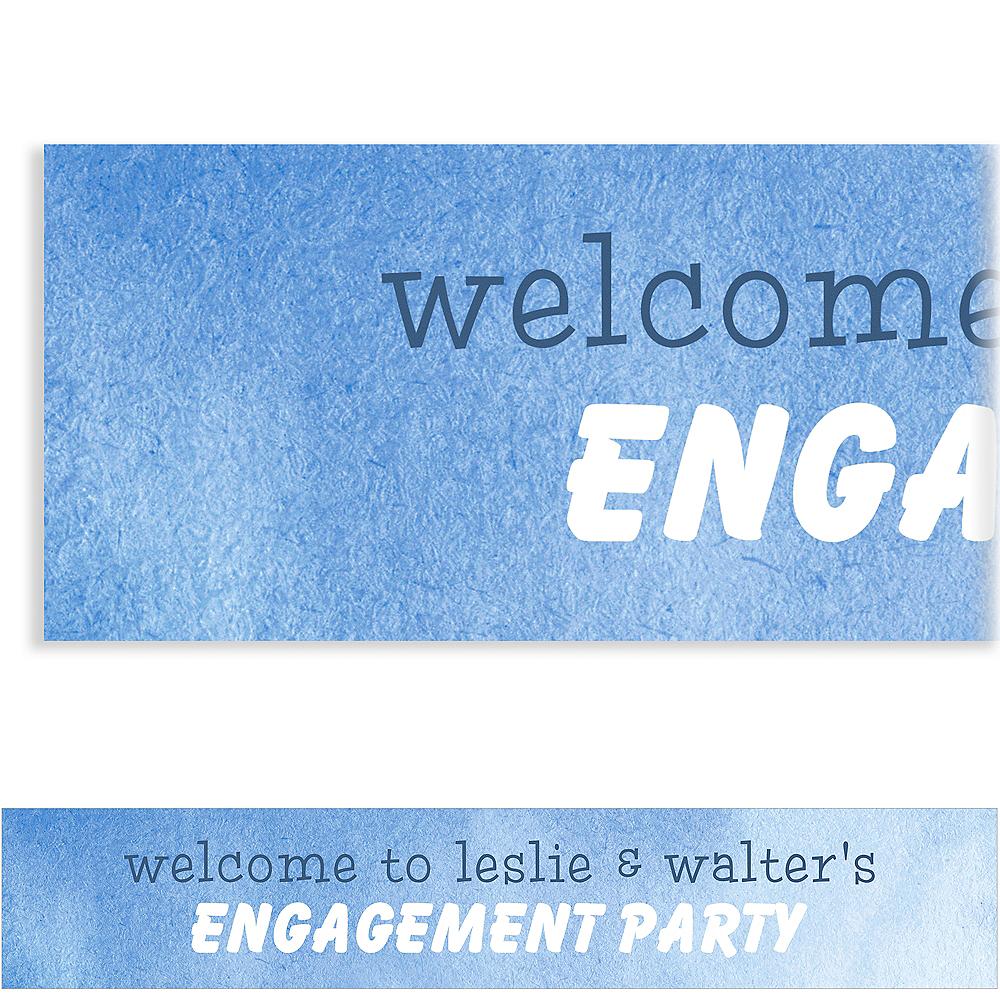 Custom Blue We Are Engaged Banner Image #1