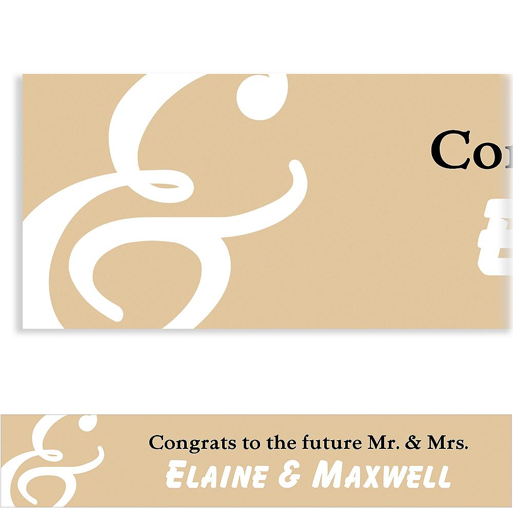 Custom Gold Mr. & Mrs. Banner Image #1
