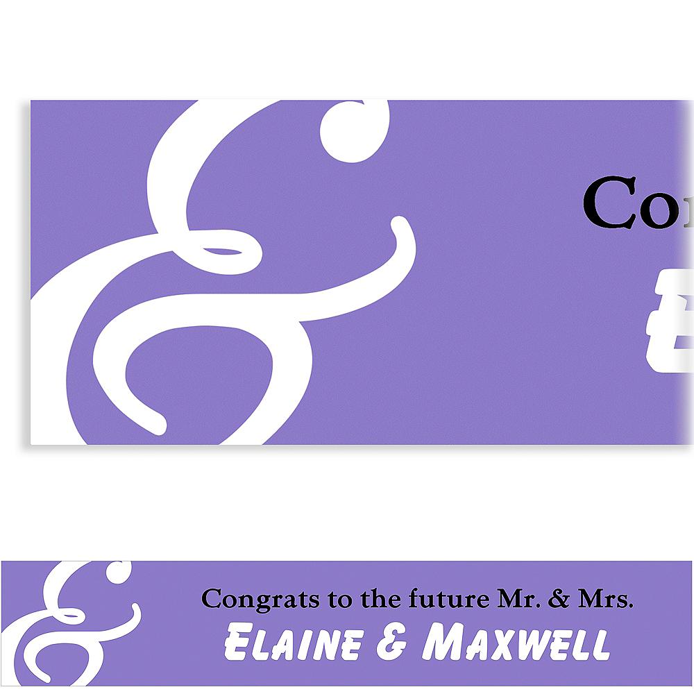 Custom Purple Mr. & Mrs. Banner Image #1