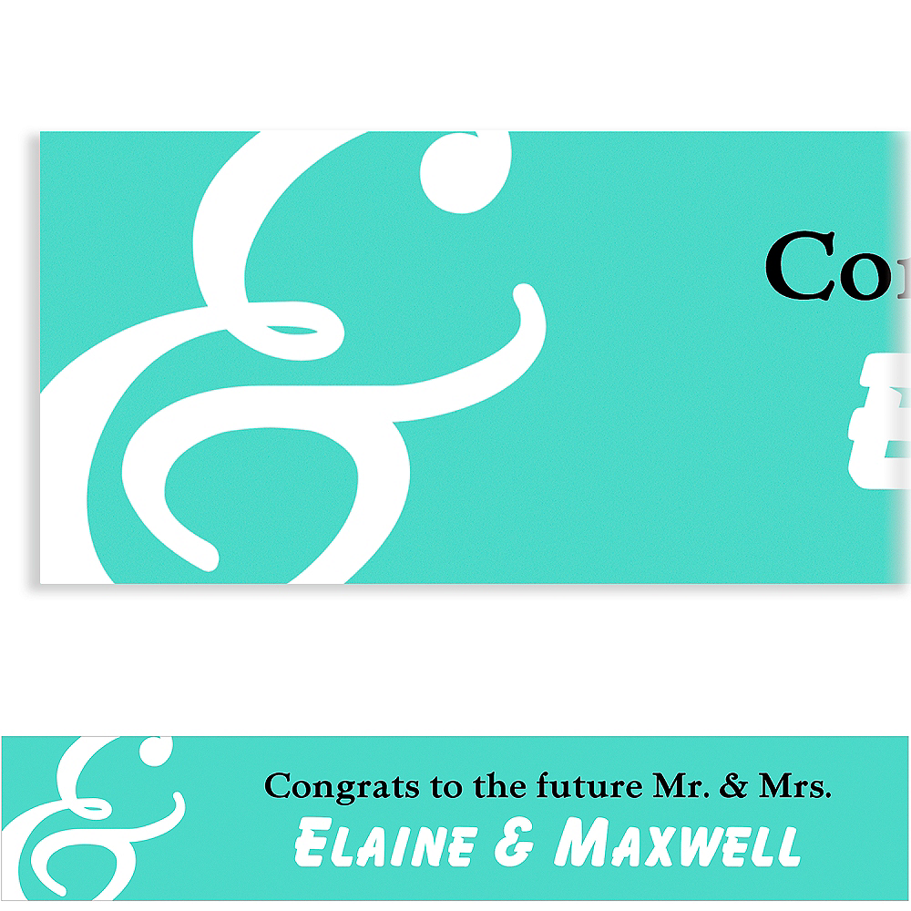 Custom Mint Mr. & Mrs. Banner Image #1