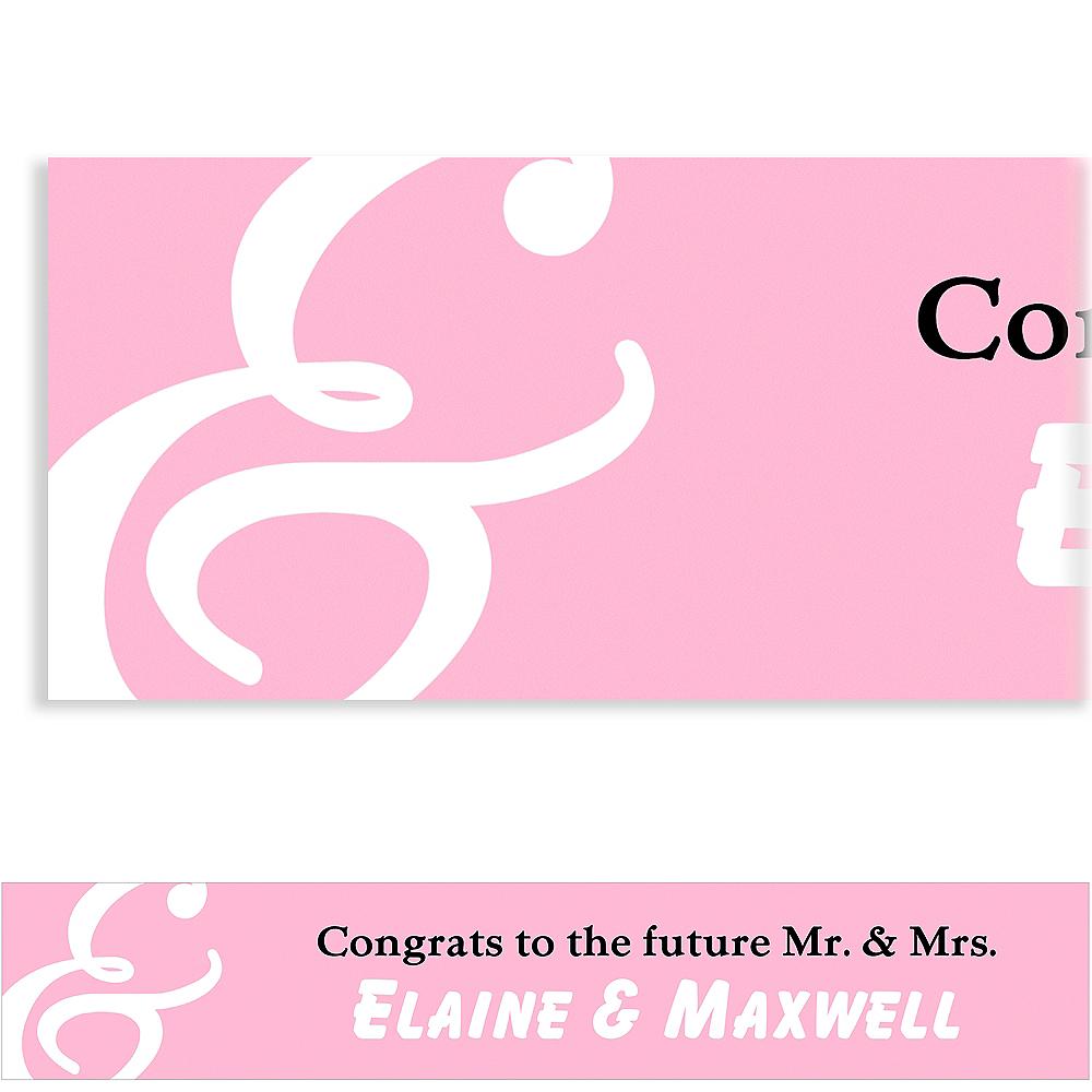 Custom Blush Mr. & Mrs. Banner Image #1