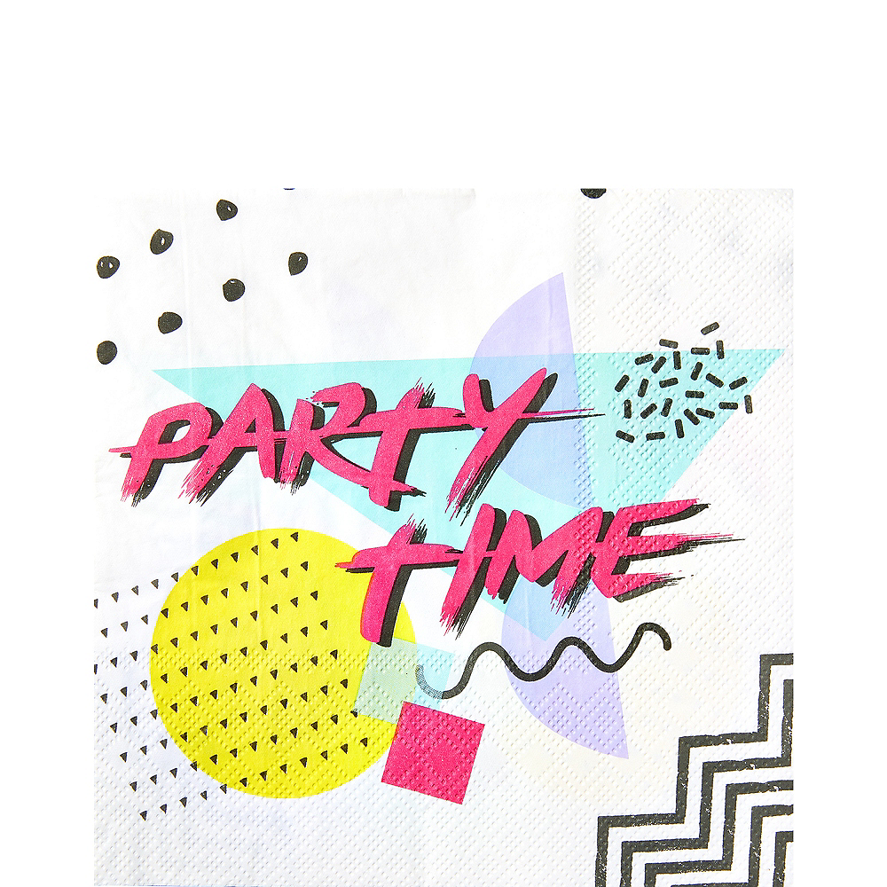 90s Party Time Lunch Napkins 16ct Image #1