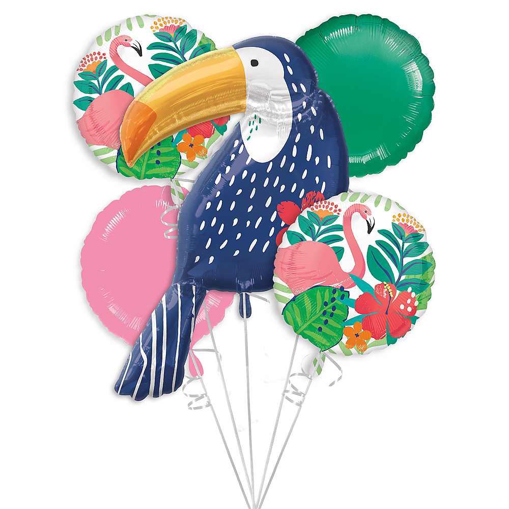 Nav Item for Tropical Jungle Balloon Bouquet 5pc Image #1