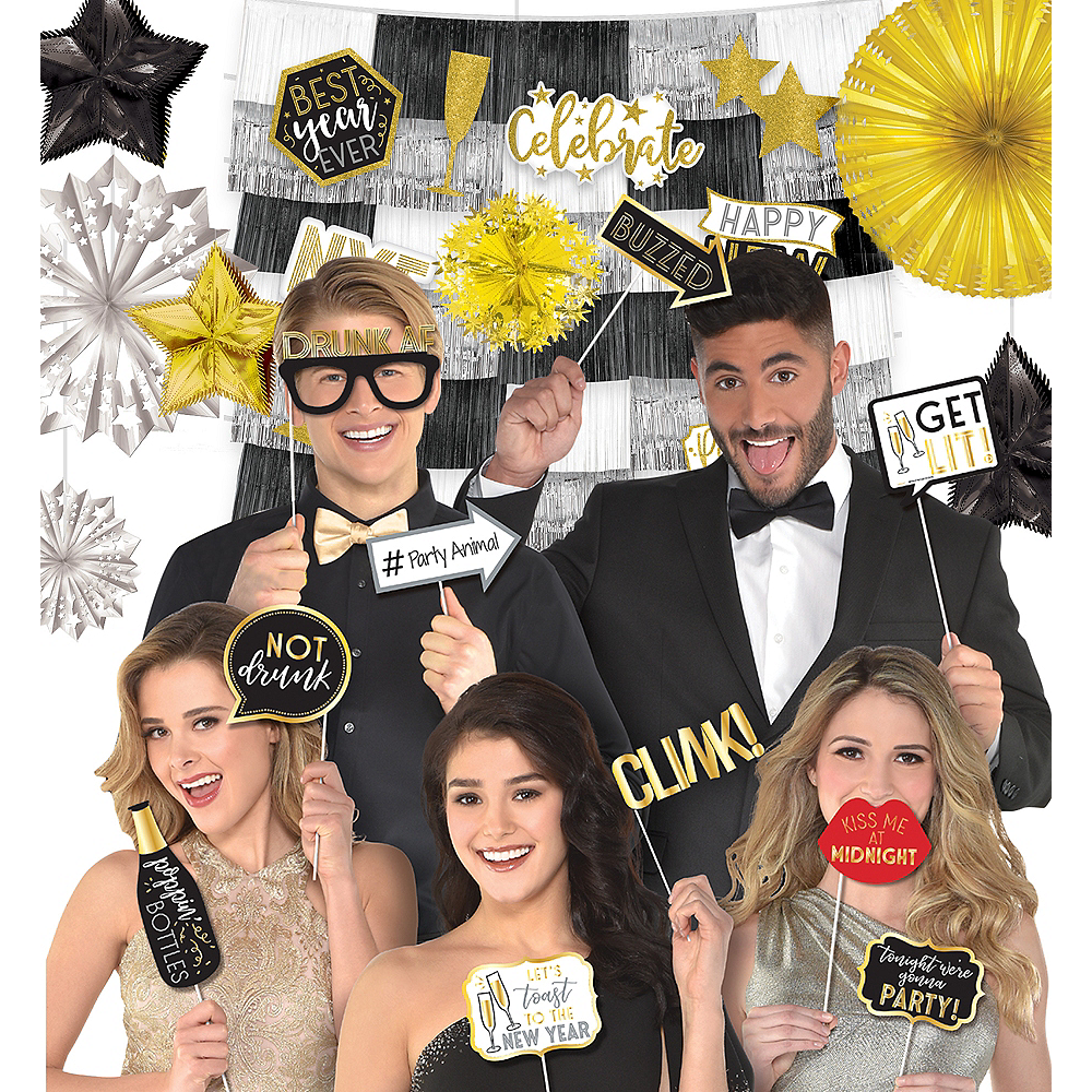 Pop the Bubbly New Year's Eve Photo Booth Kit Image #1