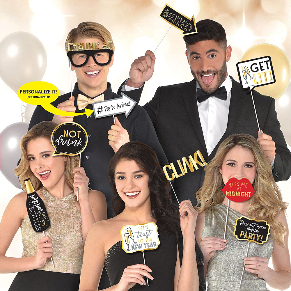 Pop the Bubbly New Year's Eve Photo Booth Kit Image #2