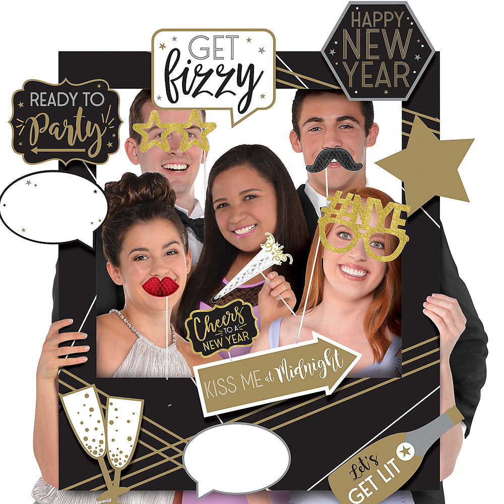 New Year's Eve Frame Photo Booth Kit Image #1