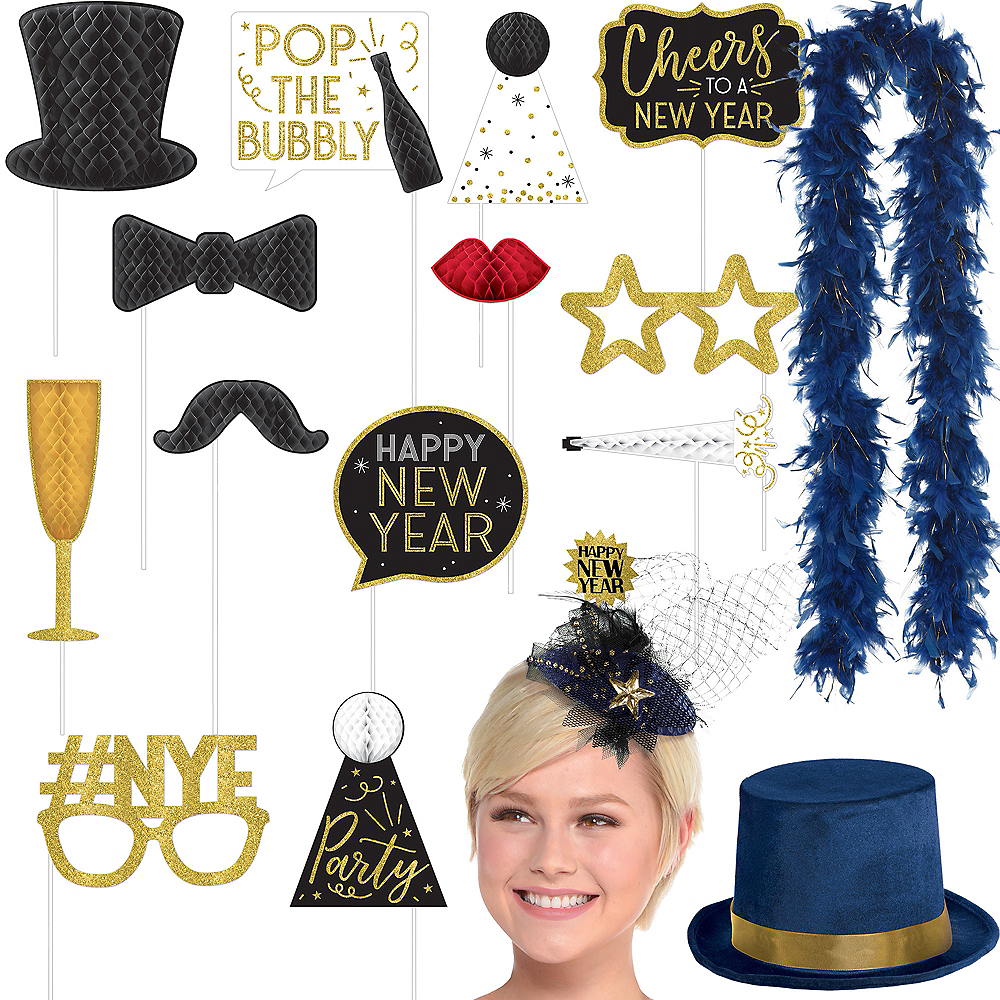 Midnight New Year's Eve Photo Booth Kit Image #1