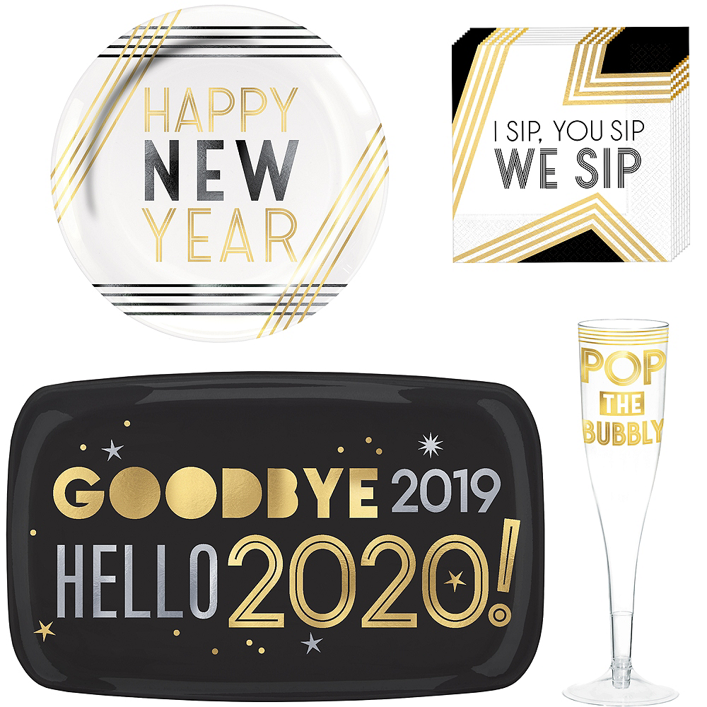 Happy New Year Cocktail Party Kit for 16 Guests Image #1