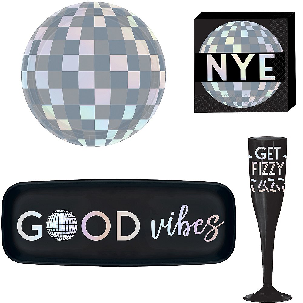 Disco New Year's Eve Cocktail Party Kit for 16 Guests Image #1