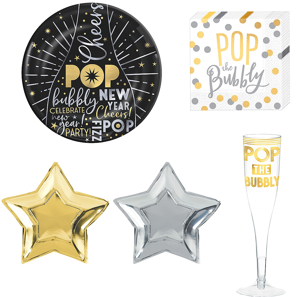 New Year's Stars Cocktail Party Kit for 10 Guests Image #1