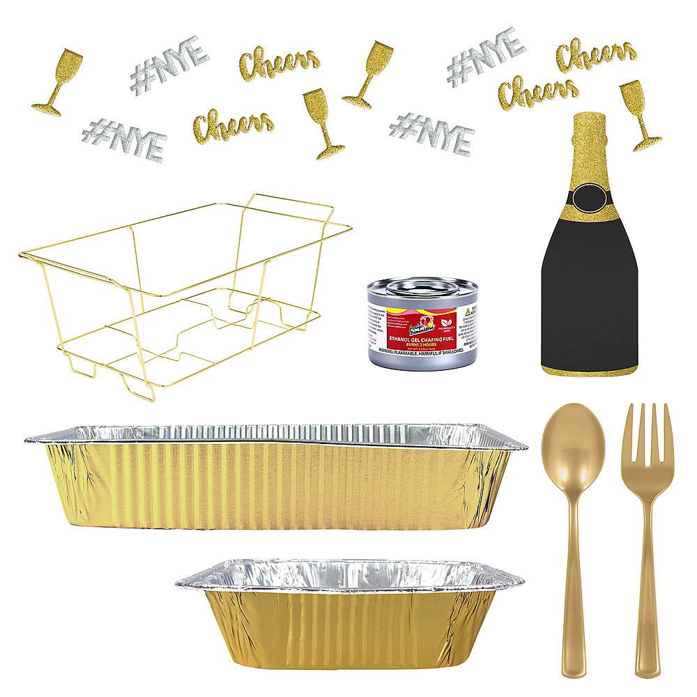 New Year's Eve Buffet Table Decorating Kit Image #1