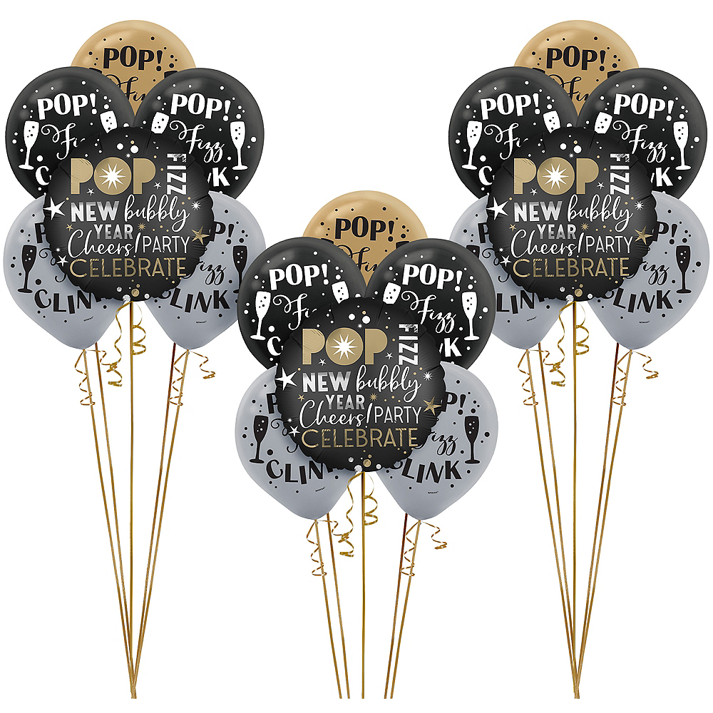 Pop Fizz Clink New Year's Eve Balloon Kit Image #1
