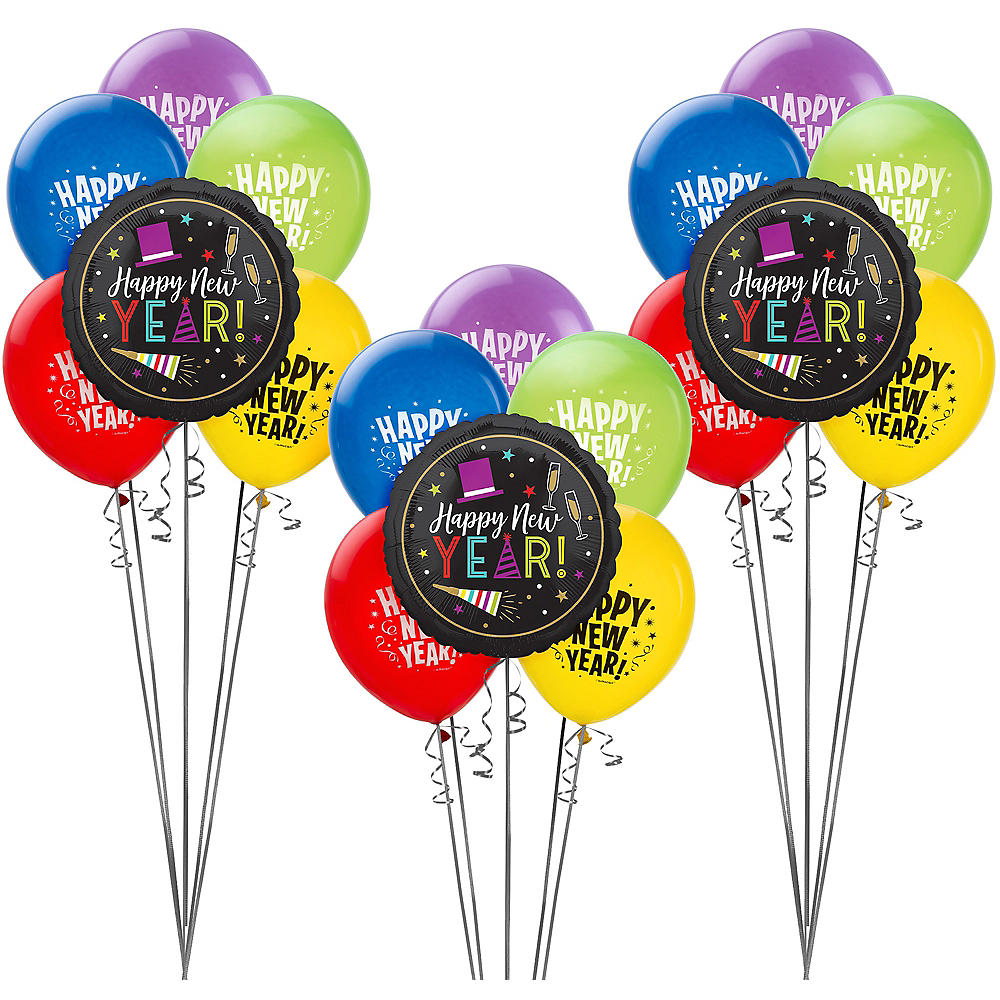 Colorful Cheers New Year's Eve Balloon Kit Image #1