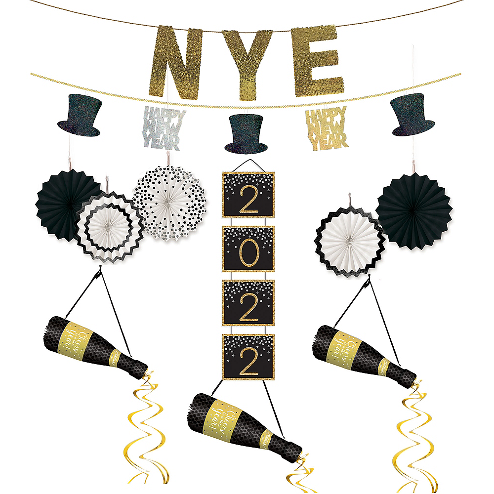 Midnight New Year's Eve Decorating Kit Image #1