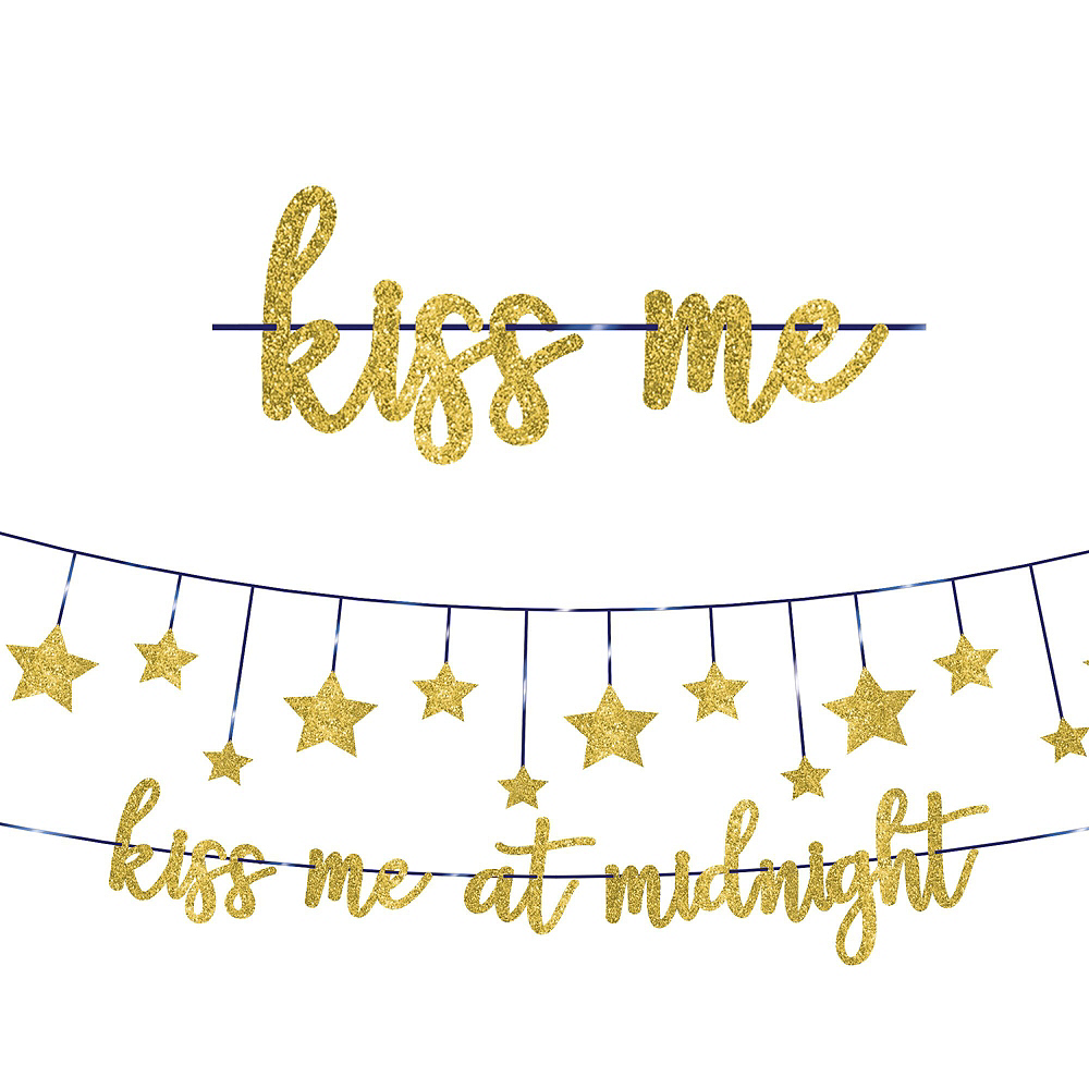 Midnight's Kiss New Year's Eve Decorating Kit Image #2