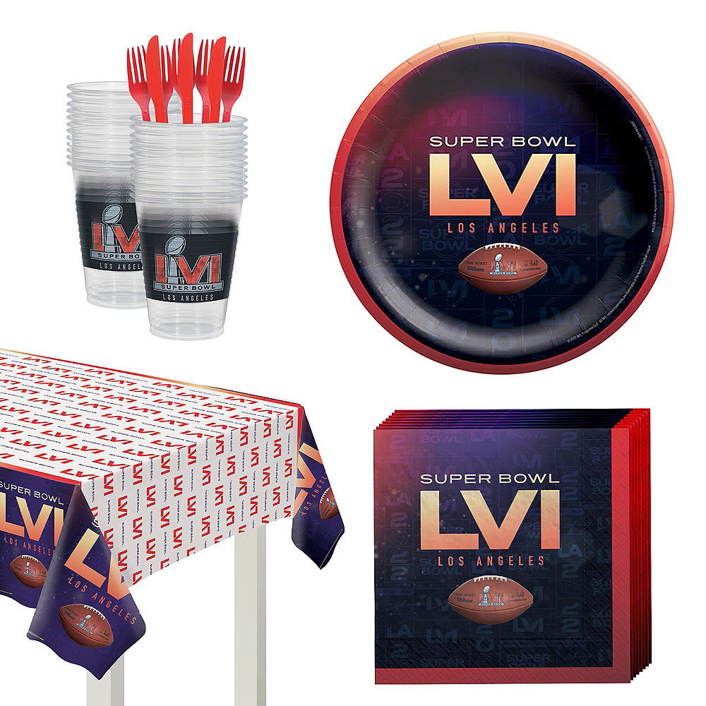 Super Bowl Tableware Kit for 18 Guests Image #1