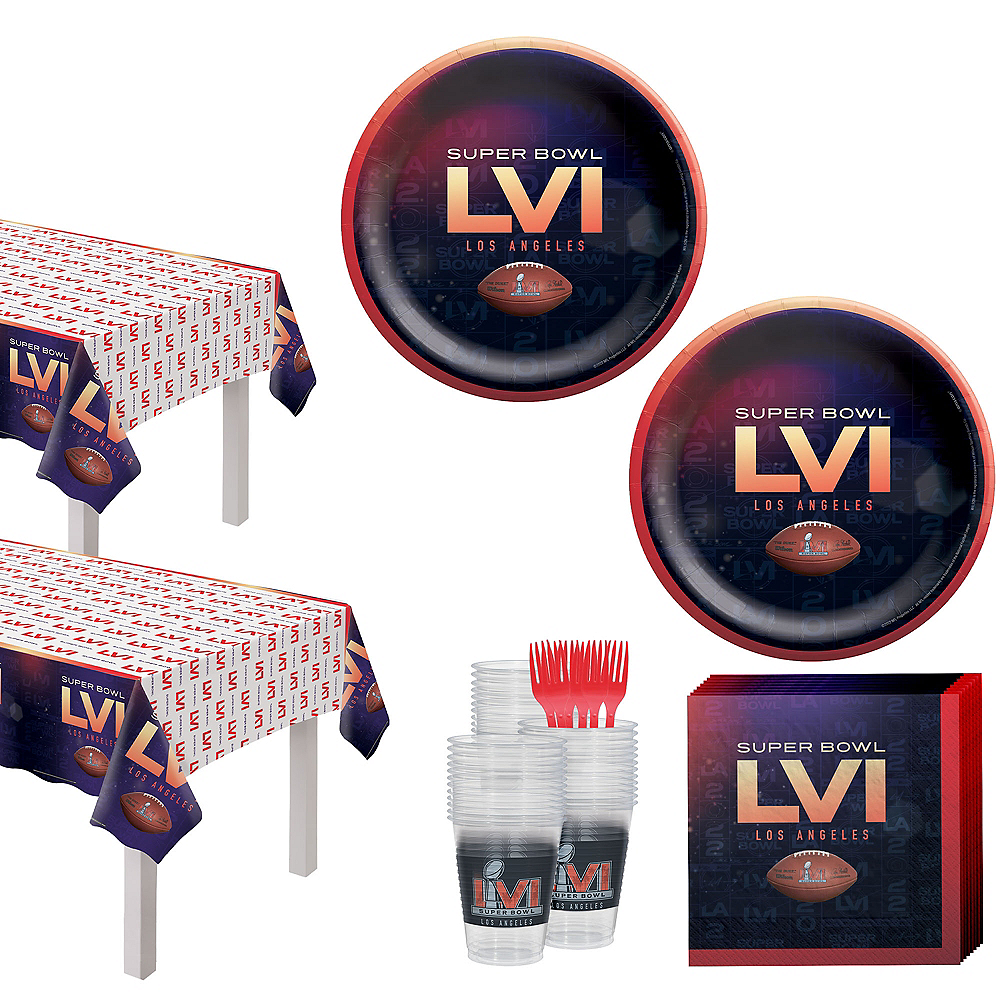 Super Bowl Tableware Kit for 72 Guests Image #1