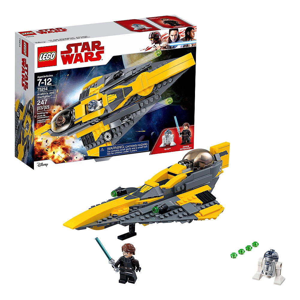Nav Item for Lego Star Wars Anakin's Jedi Starfighter 247pc - 75214 Image #1
