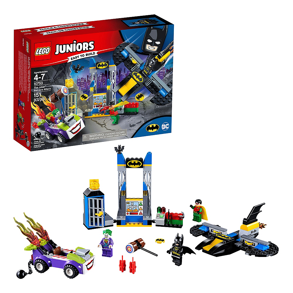 Nav Item for Lego Juniors The Joker Batcave Attack 151pc - 10753 Image #1