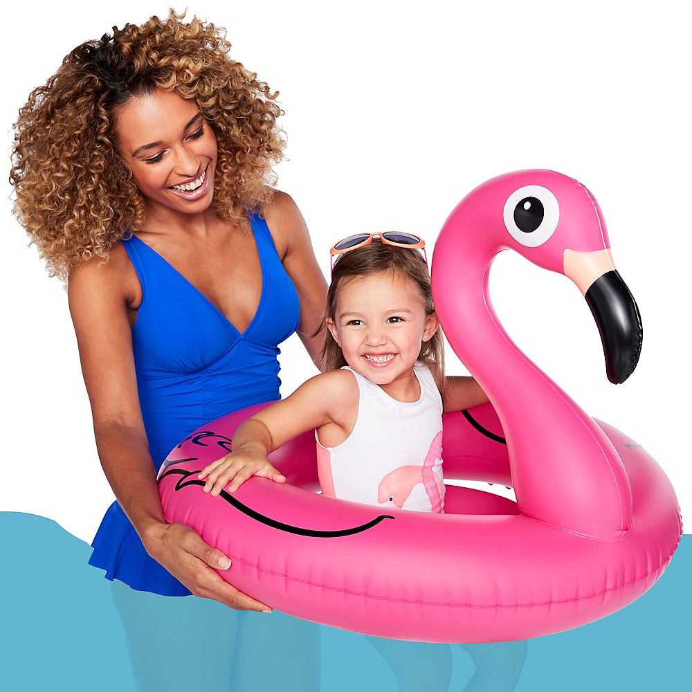 Pretty in Pink Flamingo Pool Float Image #1