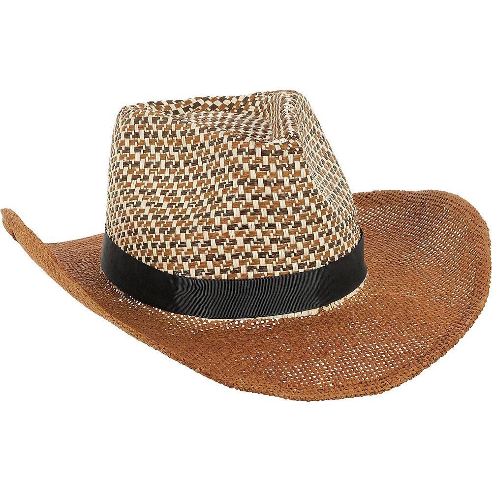 Brown Straw Cowboy Hat Image #1