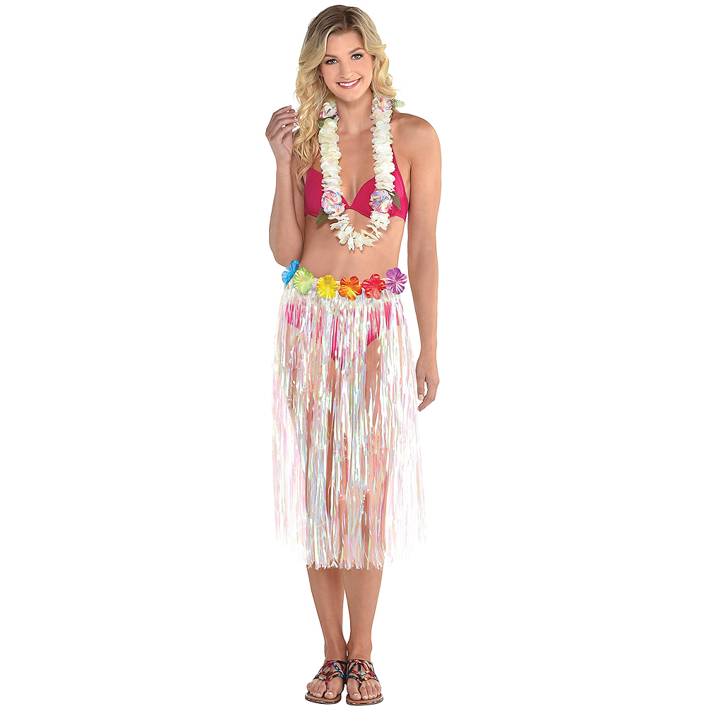 Adult Iridescent Hula Skirt Image #1